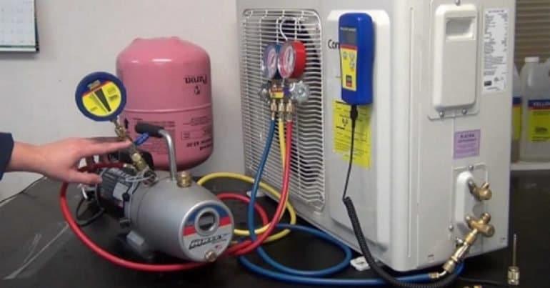 Máy lạnh hết GAS hoặc thiếu GAS
